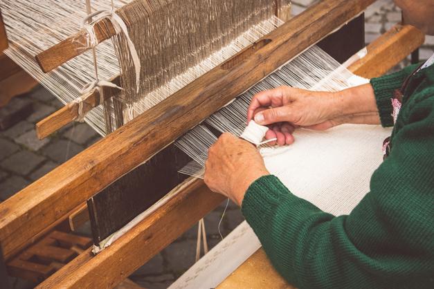 Native Slovak rustic wooden loom