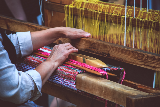 Loom and hands