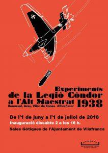 """Exposició : """"Experiments de la Legió Còndor a l'Alt Maestrat"""" @ Vilafranca"""